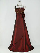Cherlone Clearance Plus Size Red Ballgown Wedding Evening Bridesmaid Dress 22-24