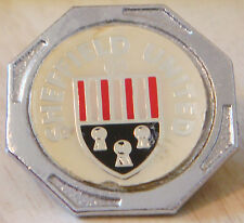 SHEFFIELD UNITED Vintage 70s 80s insert type Badge Brooch pin Chrome 29mm x 29mm
