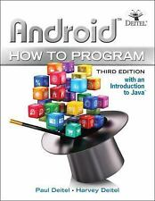 NEW Android How to Program by Paul Deitel and Harvey M. Deitel (2016, Paperback)