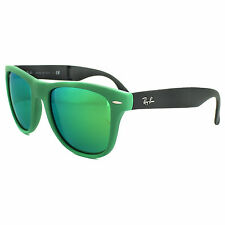 RayBan Sunglasses Folding Wayfarer 4105 602119 Matt Green Grey Green Mirror 54mm