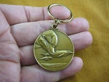 (MD-44) Bottlenose Dolphin dolphins Bronze MEDALLION KEYCHAIN key chain Jewelry