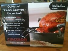 NEW ***1/3 RRP ONLY*** CIRCULON ROASTER WITH RACK TOTAL NONSTICK UNOPENED BOX