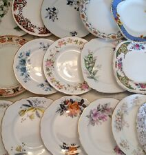 Job lot of 250 Vintage Mismatched Side Plates-Ideal for a Vintage Wedding