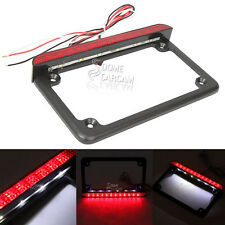 LED License Plate Frame With Tail Brake Light For Kawasaki Ninja EX 250R ZX14R