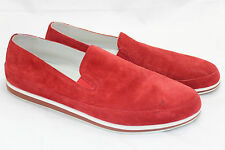 Mens Prada Sport Red White Suede Slip On Loafer Sneaker US 11 / UK 10 Shoe (N12)