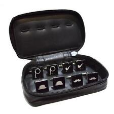 4 Pairs Mix & Match Retro CUFFLINKS Xmas Present in Leather Travel Case GIFT Box