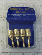 Supra CombiCon BFA Camcon Z Plug. 24K Gold Plated. 4 Pack. DECO