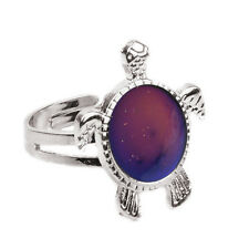 Charming Chic 1PC Mood Ring Changing Color Turtle Adjustable Temperature Ring LW