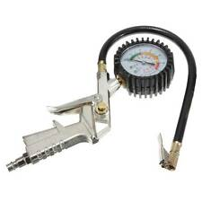 Car Motorcycle Truck Air Tire Tyre Inflator Dial Pressure Gauge Compressor Van