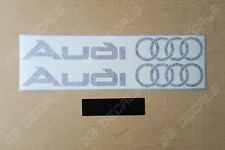 2x Audi Logo Alt Superior Cast Vinyl Skirt Sill Door Decals Stickers  11 Colours