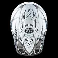 "2016 Troy Lee Designs AIR ""Starbreak Gloss White"" Medium MX Helmet TLD Motocross"