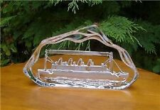 Crystal Art TITANIC Model Ship Plaque/Paperweight BNIB