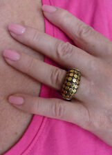 John Hardy!  Two Tones & yellow gold dots Ring!!!  size 7