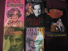 Barry Humphries Set. Signed My Life As Me Sandy Stone Dame Edna Everage Gorgeous