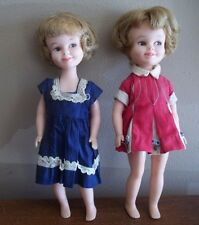 2 VINTAGE 1960s  deluxe reading PENNY  BRITE patty duke twin DOLLS