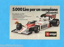 TOP985-PUBBLICITA'/ADVERTISING-1985- BURAGO - Mc LAREN MP4/2 TURBO  1:24