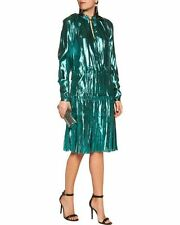 Lanvin Silk Metallic Dress