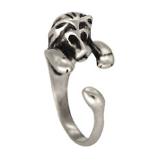 Opening Cute Small Lion Animal Ring Silver Fashion For Men Women