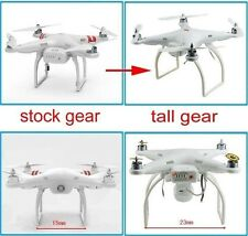New Tall Landing Gear Wider & Taller Skid for DJI Phantom 1 2 Vision Plus FC40