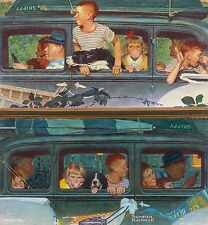 """Norman Rockwell family vacation print """"THE OUTING"""" or """"GOING and COMING HOME"""""""