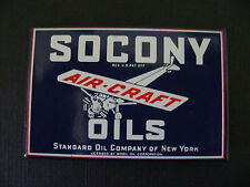 SOCONY STANDARD OIL OF N.Y. PORCELAIN STEEL SIGN 25 YEARS OLD MINT CONDITION
