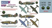 Montex K32241 1/32 Hurricane Mk I trop Paint Mask&Decal for Pacific Coast Models