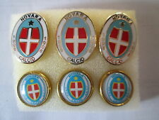lotto 6 pins lot NOVARA FC club spilla football futbol calcio pins spillebadge