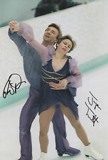 TORVILL & DEAN Signed 12x8 Photo WINTER OLYMPIC Ice Dancing Champions COA