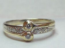 """  EVER US  "" natural (REAL) DIAMOND ladies ring SOLID 14k Yellow GOLD"