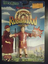 """JUSTOYS 1991 HANNA BARBERA BROTHER TUCK YOUNG ROBIN HOOD 5"""" BENDM FIG NEW SEALED"""