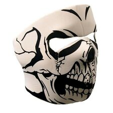 White SKULL Full Face Mask Motorcycle Paintball Airsoft Snowboard ATV Ski Biker