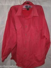 EDDIE BAUER Pink Denim 100% Cotton Button Up Shirt Men's M