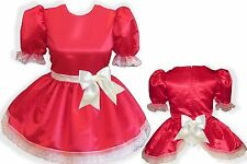 """Anjanette"" Custom Fit OPEN BACK SATIN Adult Baby Sissy LG Dress LEANNE"