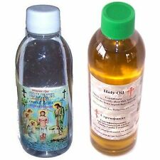 Set of Certified Jordan River Holy Water and Biblical Jerusalem Anointing Oil