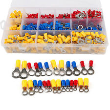 650PCS Assorted Insulated Ring Crimp Terminals Electrical Wiring Connectors Kits