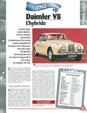 Daimler V8 164 1963 GERMANY DEUTSCHLAND ALLEMAGNE  Car Auto FICHE FRANCE