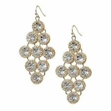 Banana Republic Spinning orchid chandelier earring NIP $85 GOLD