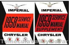Factory Shop - Service Manual Set for 1958-1959 Chrysler & Imperial