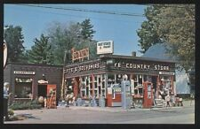 Postcard KEENE New Hampshire/NH  Ye Country Store & Texaco Gas Station 1950's