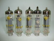5 X ECC960 WF TUBES. NOS TUBES. MATCHED FIVE. CRYOTREATED