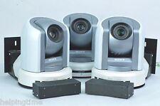 Lot THREE (3x) Sony BRC-300 Robotic PTZ 3CCD Cameras + Vaddio Interface Shoes