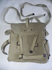 Israeli Military Surplus IDF Shoulder Bag Backpack Khaki Cotton Canvas 1970's