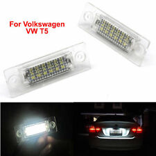 2x LED License Plate Light Number Plate For T5 VW Volkswagen Jetta Golf Passat