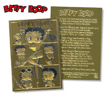 BETTY BOOP Officially Licensed Genuine 23 KARAT  GOLD Card, RARE,MINT CONDITION