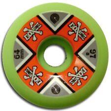 NOS Powell Peralta CROSS BONES Skateboard Wheels 64mm 97a GREEN