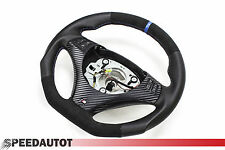 Flattened Alcantara Leather steering wheel BMW M-POWER E90, E91 NEW - BLUE