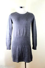 LOUIS VUITTON Cashmere Wool Blend Grey Sweater Long Sleeve Dress sz. 36 4 5 6
