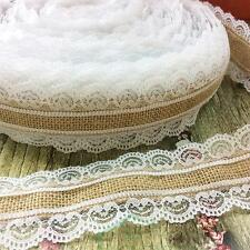 10M DIY Wedding Christmas Lace Linen Roll Home Craft Decorations