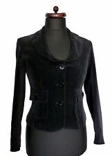 E-collection VIE noir velours blazer veste steampunk casual formelle ajustée 10 38