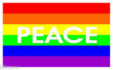 PEACE RAINBOW FLAG 5FT X 3FT (Another Quality item from Klicnow)